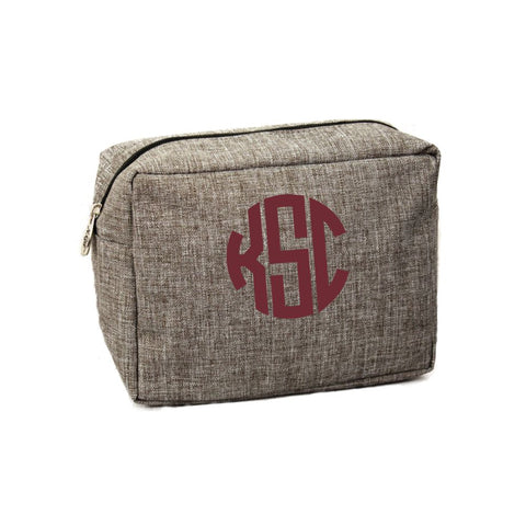 Personalized Cosmetic Bag (Gray)