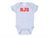 Personalized Infant One Piece Creeper for Boys (Gray)