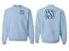 Monogrammed Sweatshirt Front and Back (Light Blue)