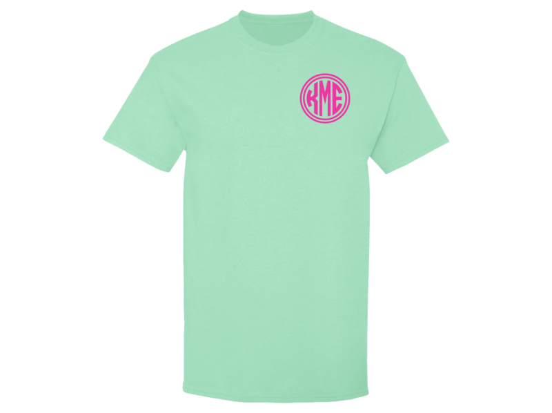 Monogrammed T-Shirts (Mint Green)