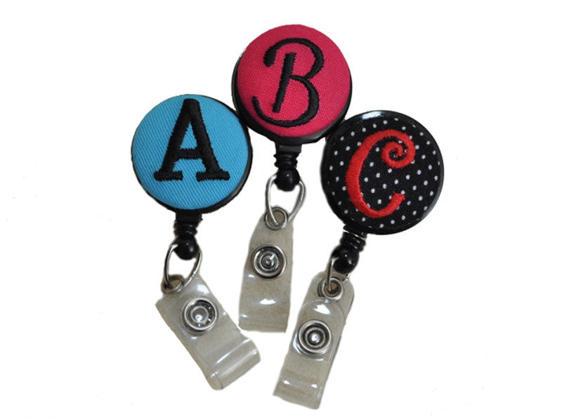 Personalized Monogrammed Badge Reels