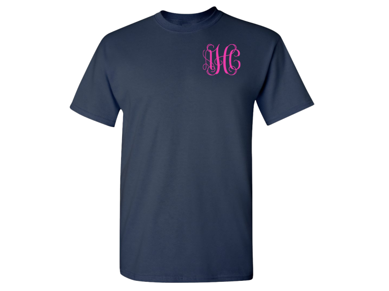Monogrammed T-Shirts (Navy Blue)