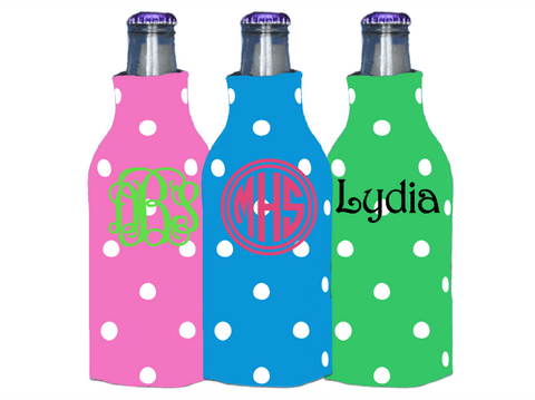 Personalized Bottle Koolies (Polka Dot)