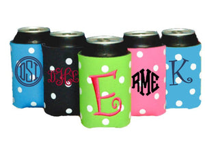 Personalized Can Koolies (Polka Dot)