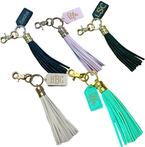 Personalized Tassel Key Chains