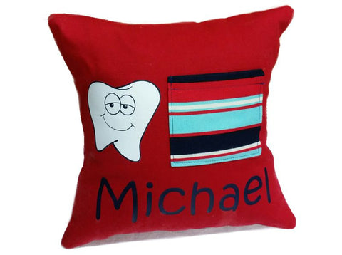 Personalized Tooth Fairy Pillow Boy