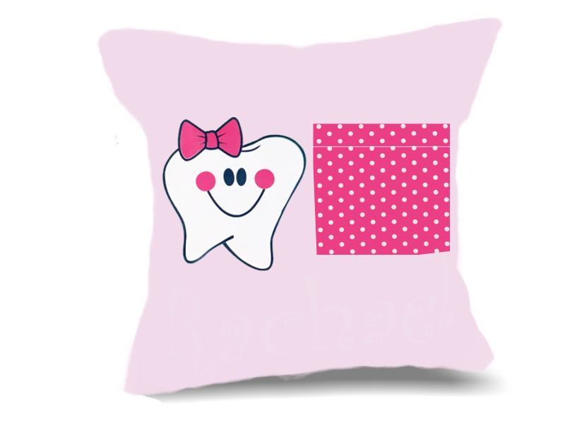 Personalized Tooth Fairy Pillow Girl