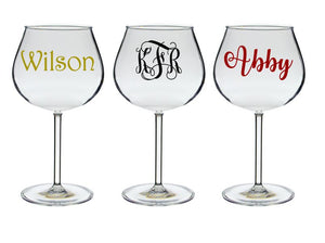 Personalized Acrylic 20 oz. Balloon Wine Glass