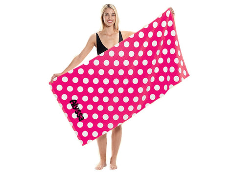 Embroidered Polka Dot Beach Towels