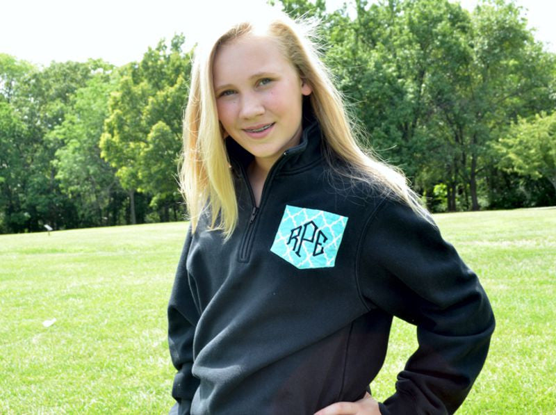 Pullover with Monogrammed Pocket