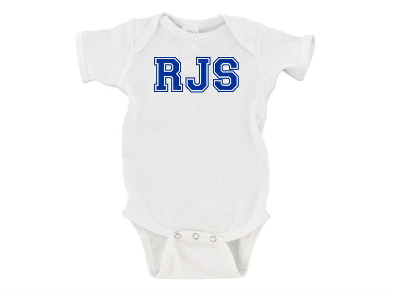 Personalized Infant One Piece Creeper for Boys (White)