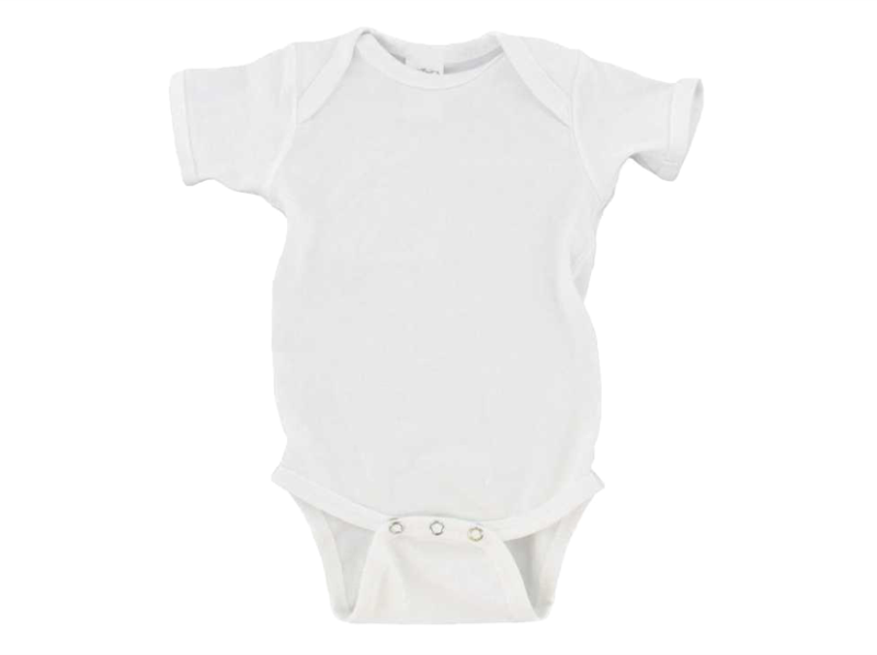 Personalized White Infant One Piece Creeper (White)
