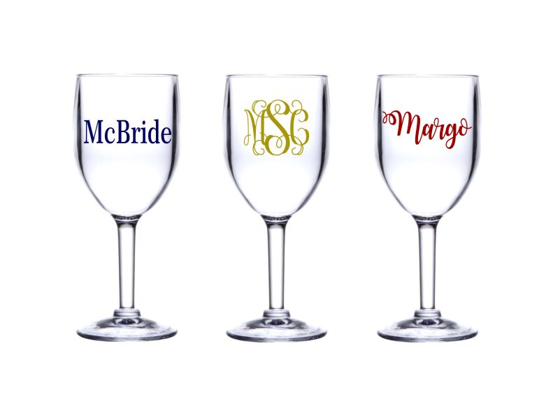 Personalized Acrylic 8 oz. Wine Glass