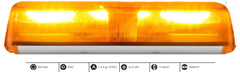 "Magnetic 22"" Radiance dual 9 LED Lightbar"