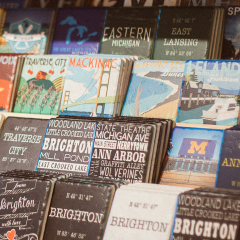 Iconic Detroit Coasters