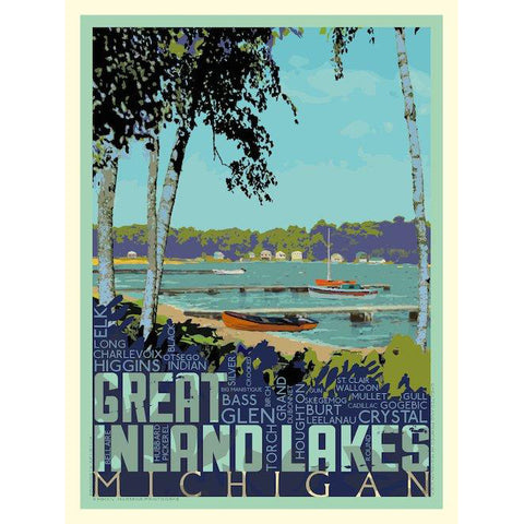 Great Inland Lakes Print | 11x14