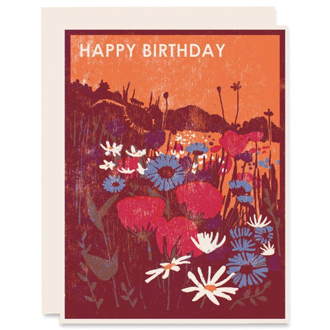 Heartell Press - Wildflowers Happy Birthday Card