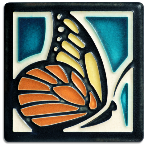 Motawi Butterfly in Turquoise - 4x4