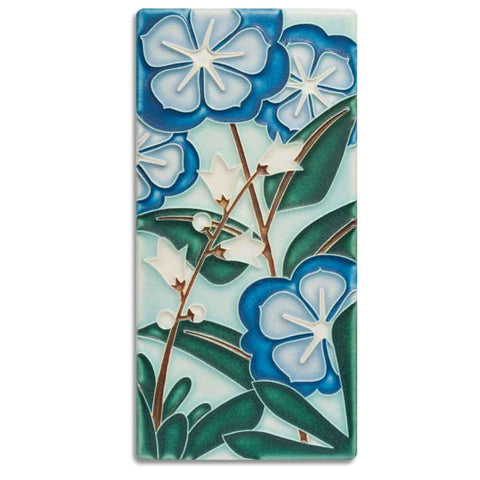 Motawi Starry Flowers in Blue - 4x8