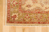 Ivory and Olive Wool Rug 3' x 12' - Artisan's Bench