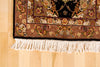 Black and Taupe Wool and Silk Rug 3' x 8' - Artisan's Bench