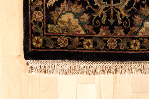 Black Wool Rug 2 - 2 1/2 x 12 - Artisan's Bench