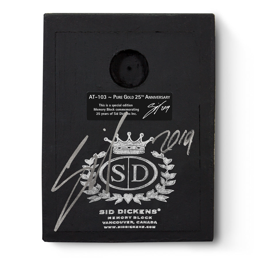 Signed By Sid Limited Edition Sid Dickens Memory Block AT-103 Pure Gold