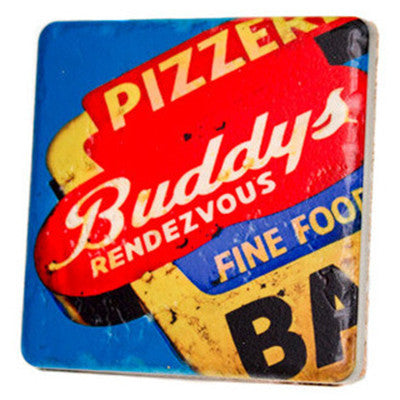 Buddys Pizza Original Coaster - Artisan's Bench
