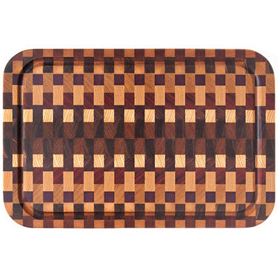 End Grain Cutting Board w/Juice Rail - Artisan's Bench