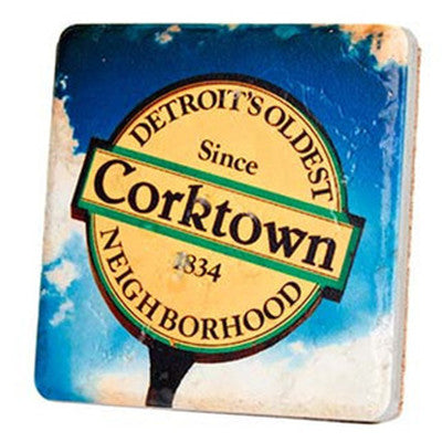 Corktown Sign Coaster - Artisan's Bench - 1