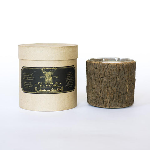 Christmas on Cedar Run Bark Candle