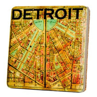 Historic Detroit Map Coaster - Artisan's Bench