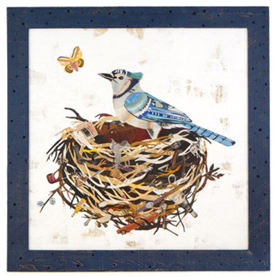 Blue Jay in Nest (Original) - Artisan's Bench - 1