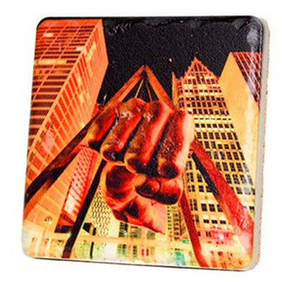 Fist of Joe Lewis Coaster - Artisan's Bench - 1