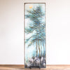 8x24 | Pine Trees & Flowers | Blue