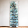 8x24 | Pine Trees and Moon | Teal