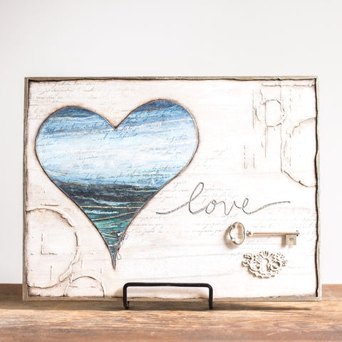 12x9 | Love is the Key Horizontal | Blue