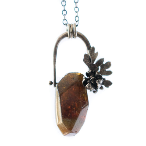 Pinned Garnet Necklace - Artisan's Bench