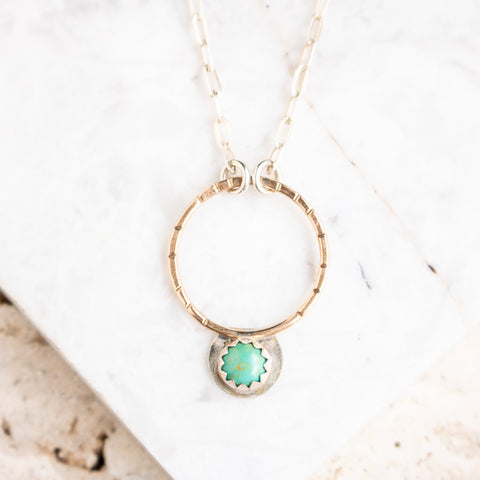 Turquoise Hoop Necklace