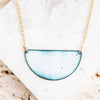 Enamel Half Moon Necklace