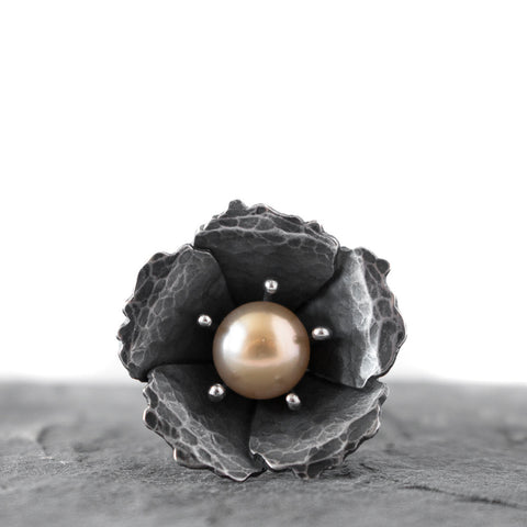 Lovely Champagne Freshwater Pearl Ring - Artisan's Bench