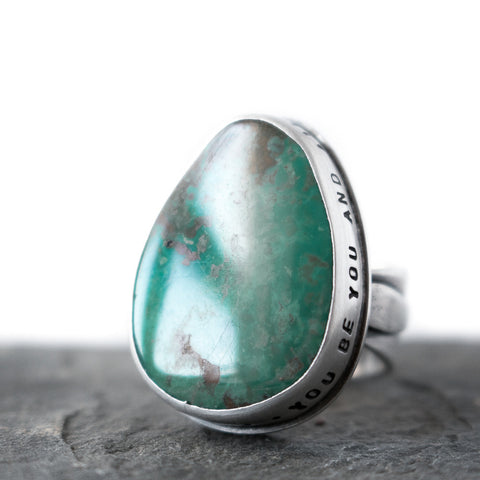 Love Each Other Turquoise Ring
