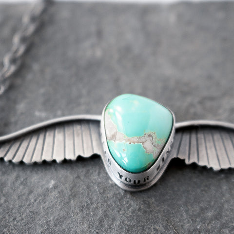 Spread Your Wings Turquoise Necklace