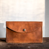 Envelope Clutch | Saddle Brown