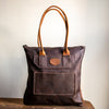 Zippered Tote Bag | Dark Brown