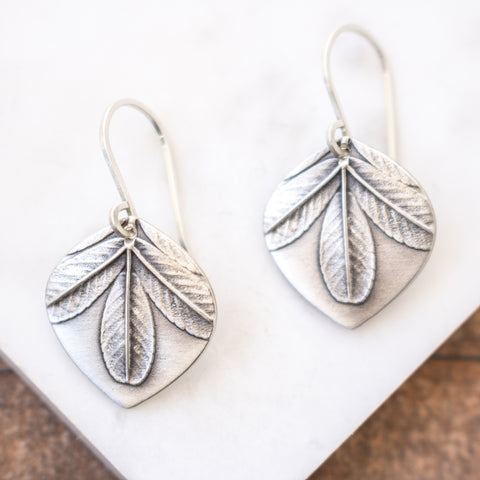 Dainty Shrub Leaf Earrings
