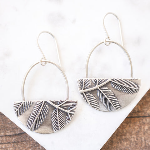 Sorbaria Half Moon Earrings