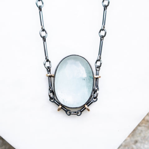 Aquamarine + 14k Necklace