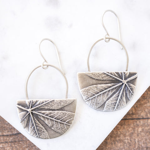 Cleome Half Moon Earrings