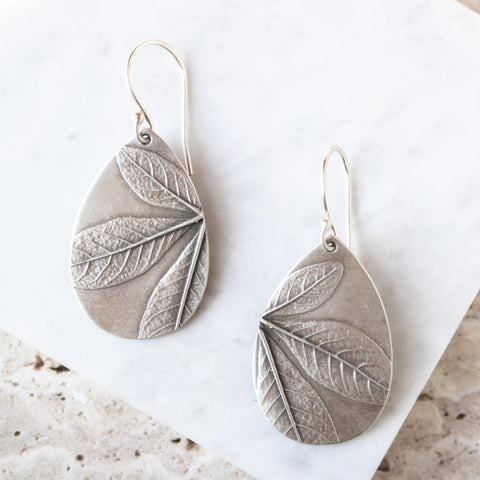 Cleome Leaf Teardrop Earrings